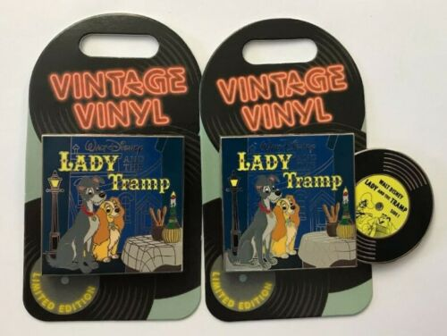 Disney Parks Disneyland 2019 Lady /& Tramp Vintage Vinyl Record LE Pin of Month
