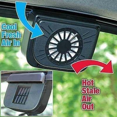 Auto Ventilator Cooler Air Vent Vehicle V Solar Power Car Window Fan  FT