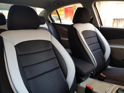 Schonbezüge Autositzbezüge für Audi A6 schwarz-weiss NO2660329 Set