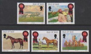 Isle-von-Mann-2001-Pferd-Rennen-Gemaelde-Set-MNH-Sg-942-6