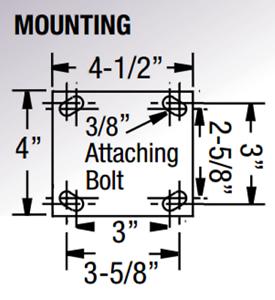 "Polyurethane on Aluminum Wheel 5AS3P-7 5/"" Bassick Swivel Plate Caster"