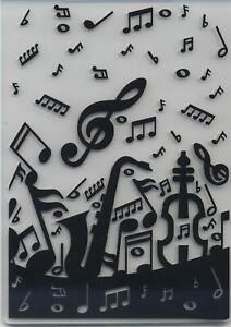 Embossing Folder Musical Background 10.5cm x 14.5cm