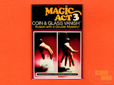"Magic Act 3 Coin & Glass Vanish box art 2x3"" fridge/locker magnet Reiss"