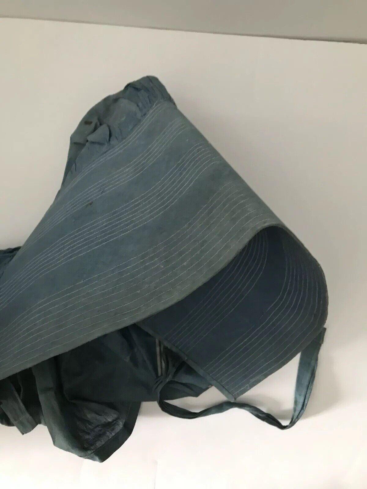 Antique Blue Bonnet 1800s Prairie Women's Victori… - image 5