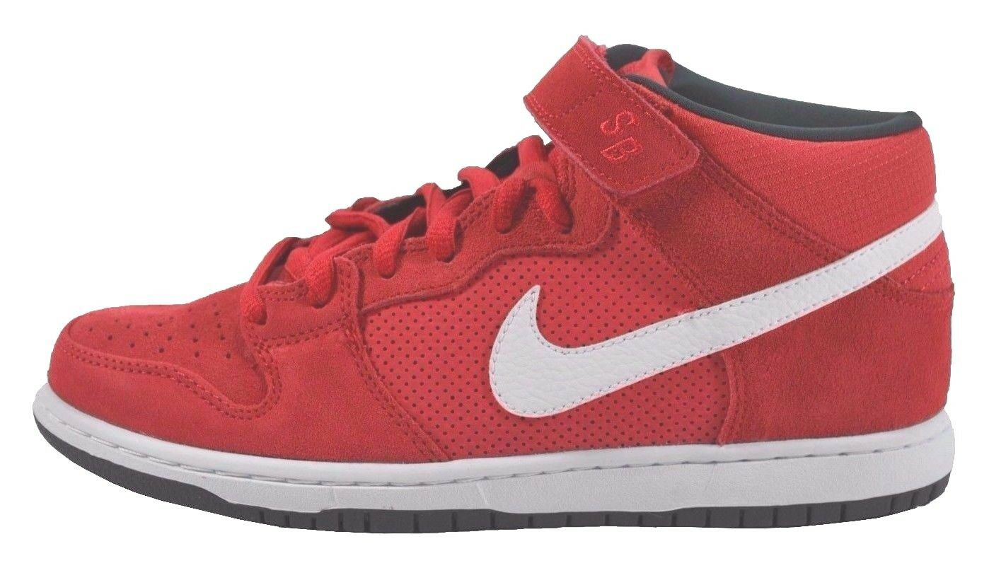 Nike DUNK MID PRO SB Hyper Red White Anthracite Discounted (233) Uomo Shoes