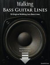 Walking Bass Guitar Lines: 15 Original Walking Jazz Bass Lines with ... NEW BOOK