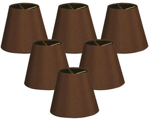 Details About Hardback Empire Dark Brown Chandelier Lamp Shade Clip On