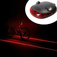 Bike Bicycle 2 Laser Projector Red Lamps Beam And 5 Led Rear Cycling Tail Lights