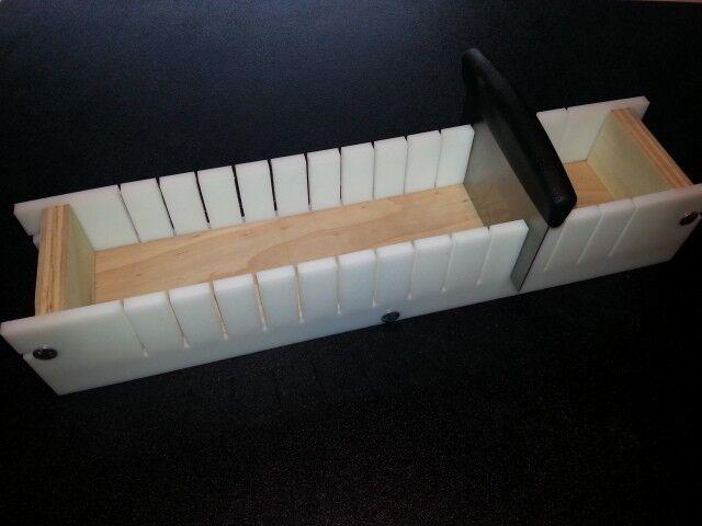 4 Lb Adjustable Soap Mold Cutter Slicer Hot Cold HDPE & Wooden 3 5/8 x 2 1/4 bar