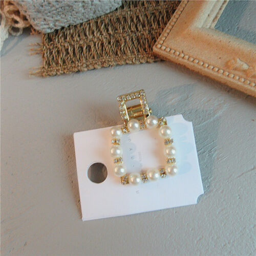 Girls Womens Pearl Hair Clip Gold Silver Hairpin Slide Barrette Hair Accessories