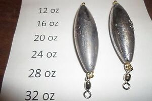 Trolling Sinkers with #7 Crane Swivels 5//8oz Qty 25
