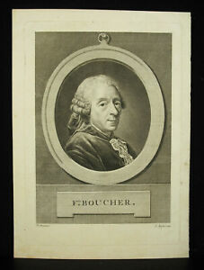Francois-Boucher-Painter-Engraving-Bofse-After-Alexander-Roslin-Rococo
