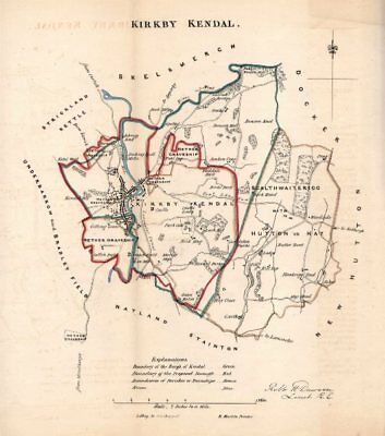 2019 Latest Design Kirkby Kendal Borough/town Plan For The Reform Act. Cumbria. Dawson 1832 Map Pleasant To The Palate