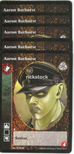 Aaron Bathurst x5 Nosferatu antitribu 3rd Ed VTES Jyhad
