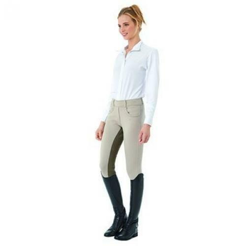 Ovation Euro Pull On Tights  Ladies Full Seat  Dimensione XSmall Coloree Storm