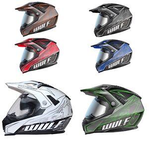 Wulfsport-PrimaX-Adventure-Motorbike-Motocross-Dual-Sport-Helmet-Inner-SUN-Visor