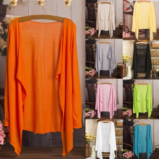 Women Summer Casual Long Thin Cardigan Modal Sunscreen Protection Clothing Tops