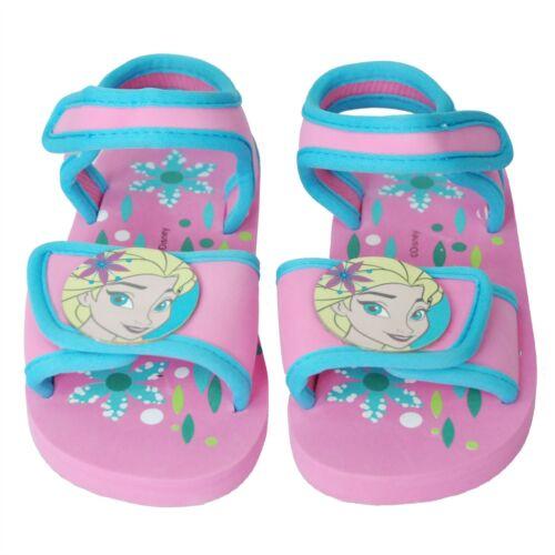 Disney® Frozen Girls Velcro Sandals Indoor Outdoor Beach /& Pool Slippers Shoes