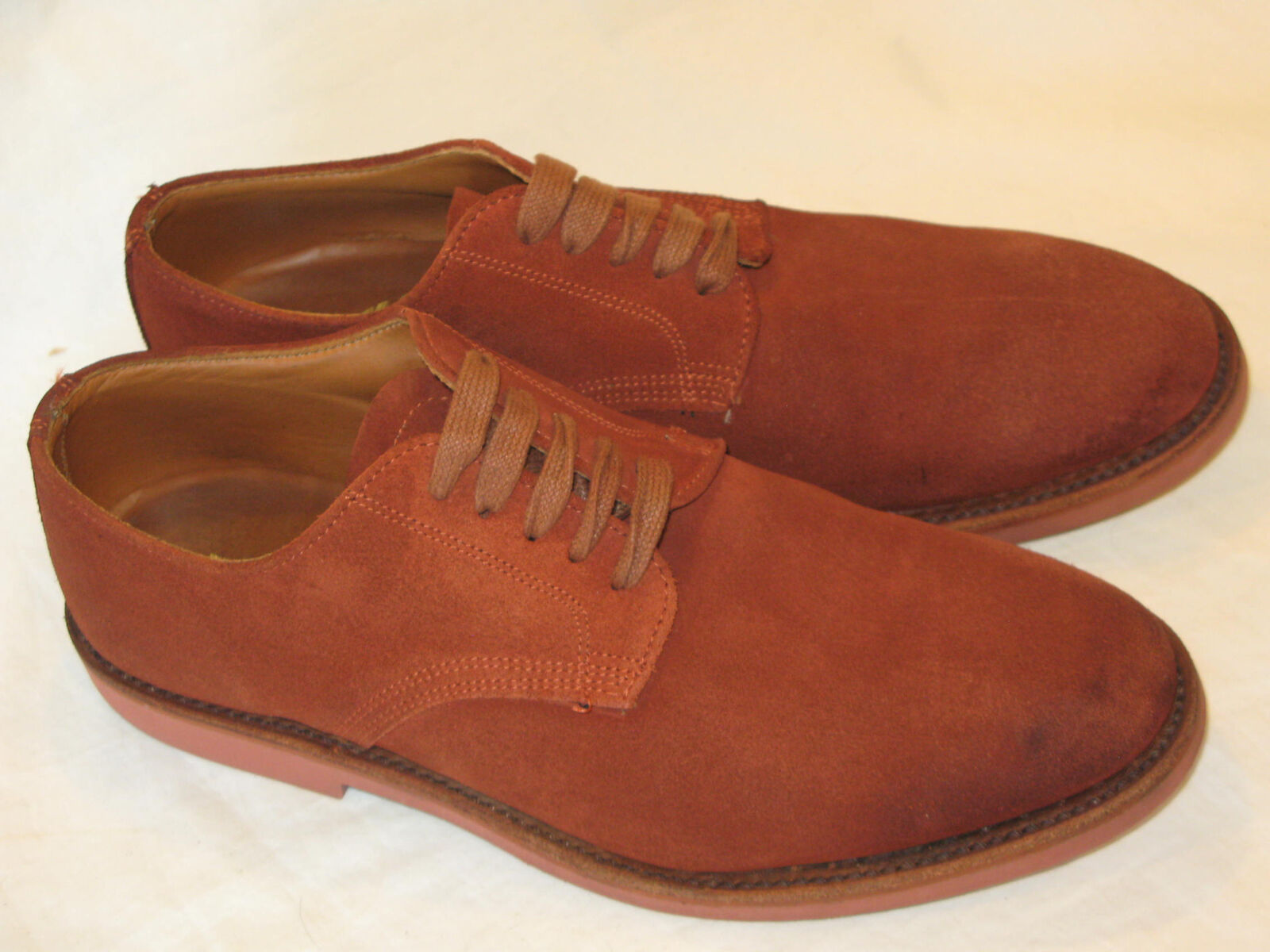 Walk Over Suede Leather Oxford shoes Mens Sz 9 M by Geo. Keith RUST