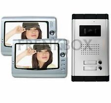 Couple videophone intercom for two-family doorphone building. Camera 4 wires
