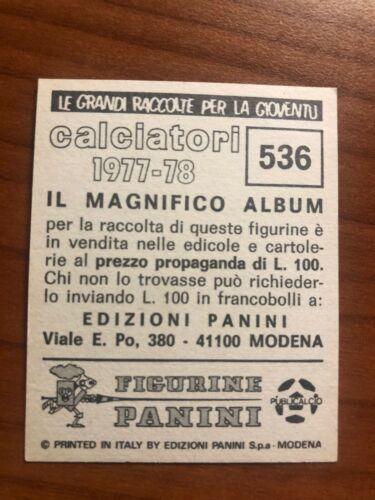 536 NUOVA CON VELINA FIGURINA CALCIATORI PANINI 1977//78 ITALIA 1954 NAZIONALE n