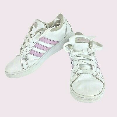 ADIDAS Shoes girls white with pink stripes size 13 play kids sneakers athletic   eBay