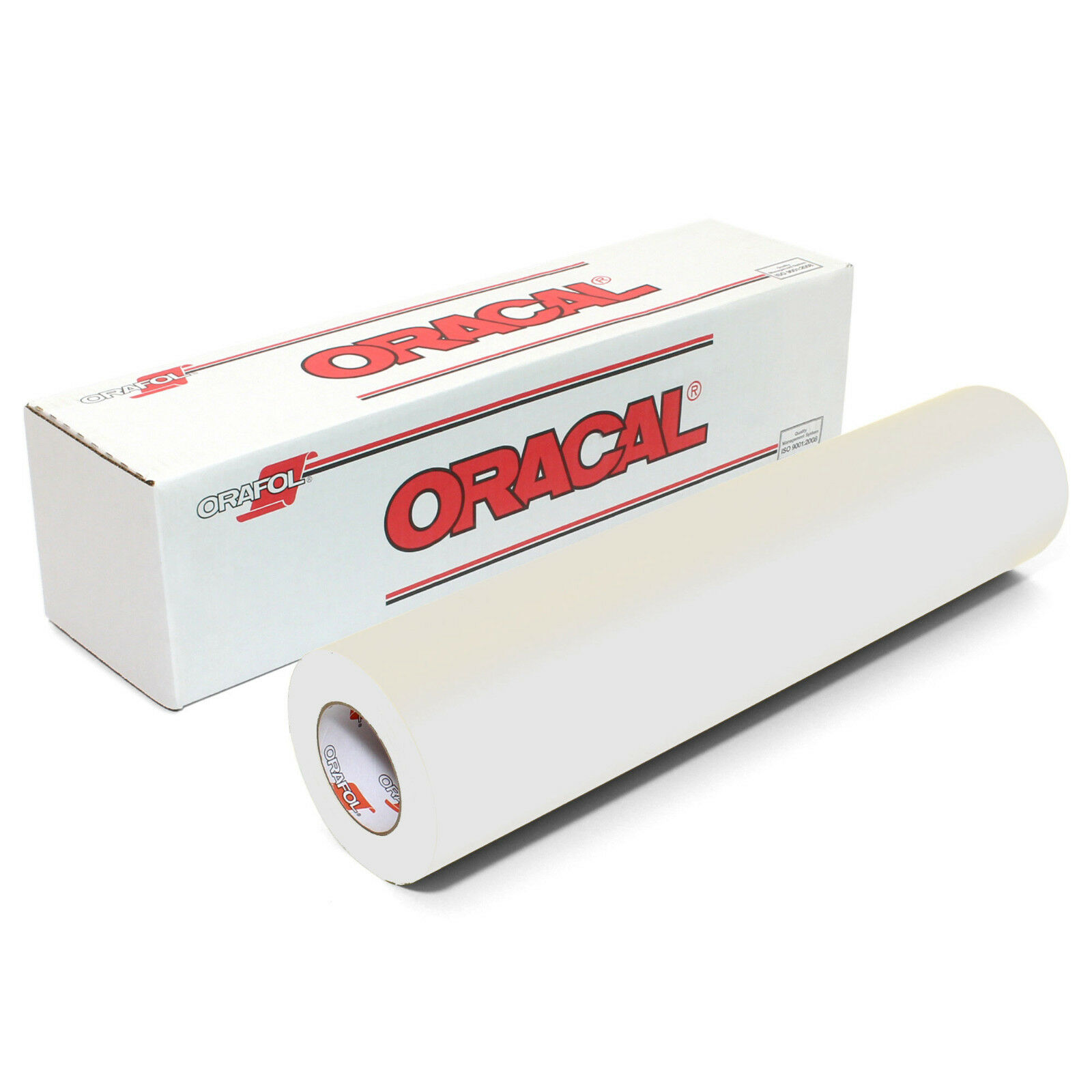 """12/"""" X 10 Ft Roll Of Glossy Oracal 651 White Permanent Adhesive-Backed Vinyl Craf"""