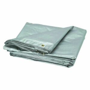 3m x 5m Tough Thick and Strong SILVER Tarpaulin Tarp Groundsheet Cover 120GSM