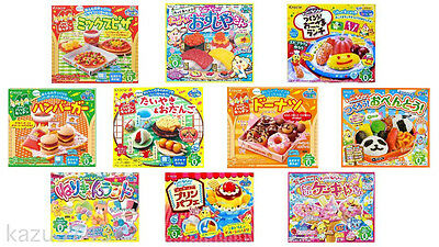 Kracie Popin Cookin Happy Kitchen Sushi Bento Cakes Donuts Pizza Ramen Hamburger