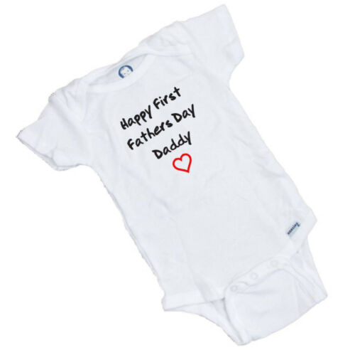 Happy First Fathers Day Onesie Romper Bodysuit Great baby shower Gift