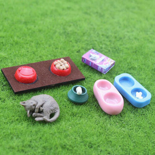 1:12 Miniature cat and dog food bowl dollhouse diy doll house decor accessories