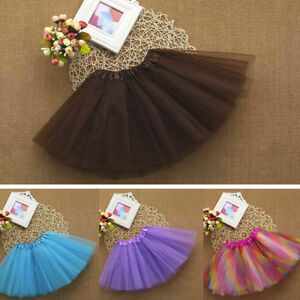 85bf11e70ab6 Cute High Quality Baby Girls Kids Solid Tutu Ballet Skirts Fancy ...