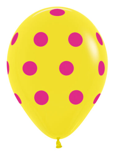 """Pack of 25 11/"""" Sempertex Polka Dot Party Balloons for Helium or Air fill"""