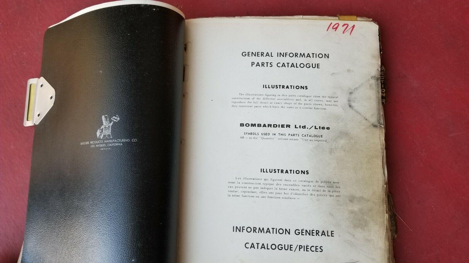 Vintage 1971  Ski Doo Snowmobile Parts Catalog Dealer Book  save 50%-75%off