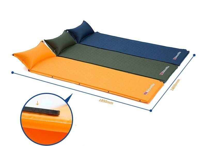 Camping Mat Mattress With Pillow Moisture-proof  Tent Bed Single Laybag Sleeping