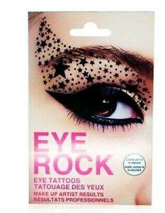 Eye-Tattoo-Face-Transfer-Sticker-Rock-Party-Lace-UK-Stock-4-TYPES