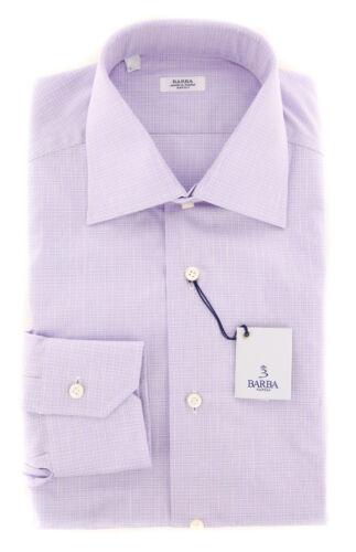 Barba Check Nieuw Purple Napoli shirt 325 310824u10t slim 4wxxqU15