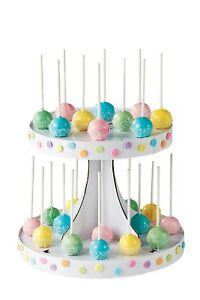 Wilton-2-Tiers-Pops-Display-Stand-Holds-28-Celebration-Decoration-Presentation