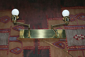 Vintage Mid Century Modern Brass Swing Are Wall Mounted Light