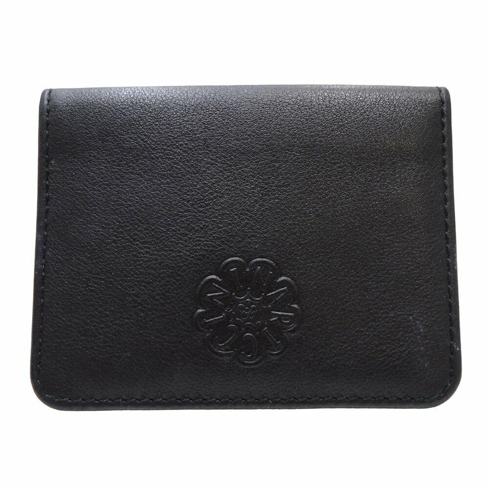 ! como NUEVO! auténtico Nina Ricci Card Case De Cuero Negro/048171 Envío Gratuito