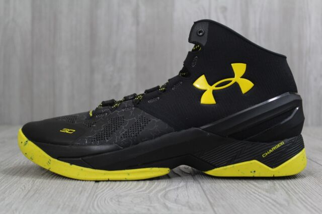 size 40 55ff7 ad0c5 33 Rare Under Armour Curry 2 Dark Knight Taxi Basketball Shoes 11.5-13  1259007