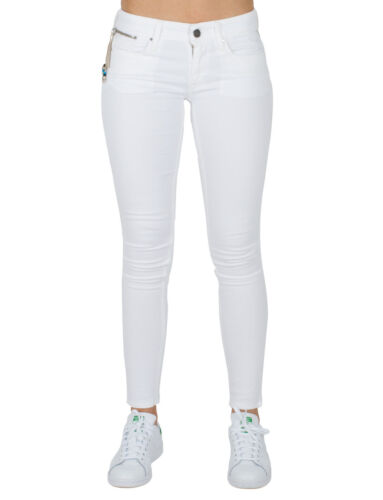REPLAY Skinny Fit Jeans LUZ Damen Stretch Hose Weiß Slim W29,W30,W31,W32 L32 NEU