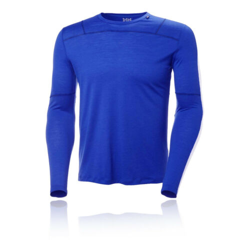 Helly Hansen Mens HH Merino Light Baselayer Top Blue Sports Outdoors Warm