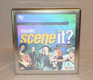 NEW-SEALED-MUSIC-SCENE-IT-The-DVD-Trivia-Board-Game-Collectible-Tin-Hologram