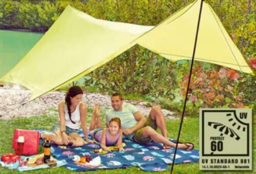 Protection Solaire Camping marquise store aufstellstang Voile pare-soleil 4x3m uv60