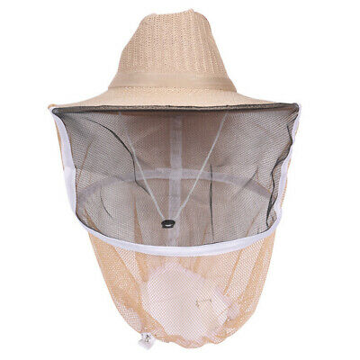 Beekeeping Beekeeper Cowboy Hat Mosquito Bee Insect Net Veil Face Musk Protector