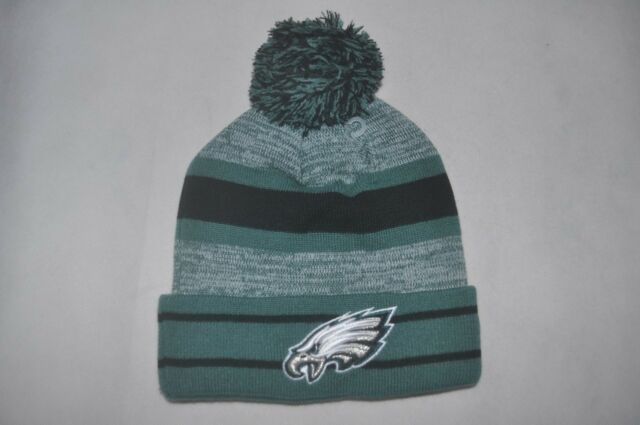 404e92842a339 New Era NFL Men s Philadelphia Eagles Hat Winter knit cuff beanie Cap POM  OSFM