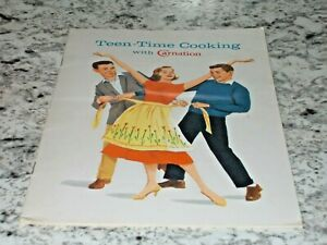 1959 Teen-Time Cooking with CARNATION Milk Recipe Booklet by MARY BLAKE