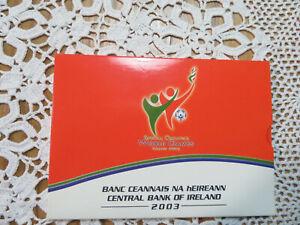 IRLANDE - Coffret 2003  BU 1 Cent à 2 Euro + 5 Euro  Special Olympics   CPS