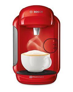 Bosch Tassimo Vivy 2 T14 TAS1403GB 0.7 Litre Coffee Machine 1300 Watt, RED New
